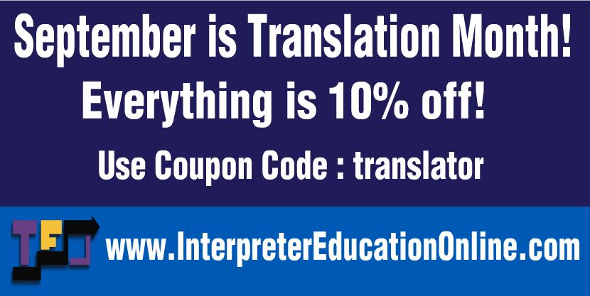 Translation Month