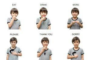 Teaching a child Sign Language